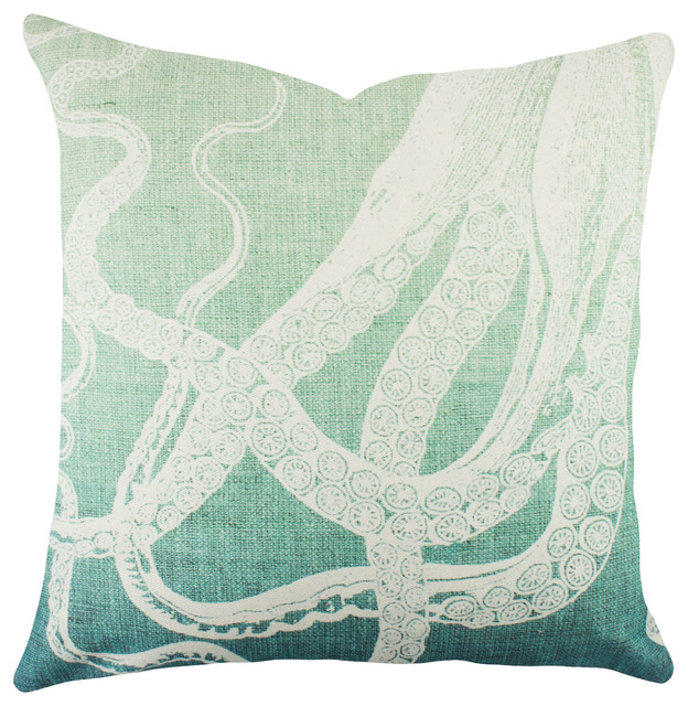 Beach Style Decorative Pillows : Tentacles Pillow - Beach Style - Decorative Pillows - by TheWatsonShop