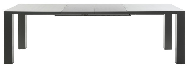 Torino Extendable Dining Table, Matte and High-Gloss Grey