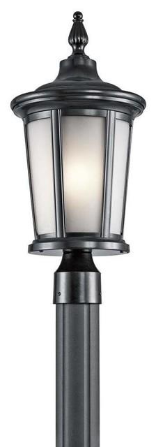 Kichler Turlee Outdoor Post Mount 1-Light, Black.