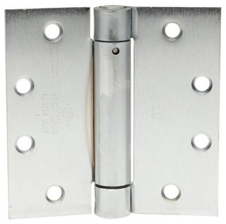 Hager Template Spring Hinge 4-1/2'x4-1/2' Dull Chrome - Transitional - Hinges - by GB Industrial ...