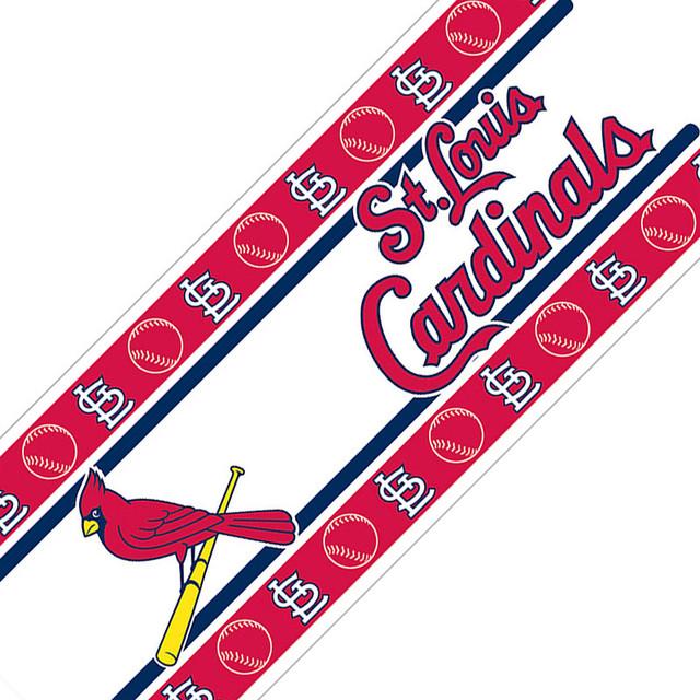 MLB St Louis Cardinals Self Stick Wall Border contemporary-wall-decals - MLB St Louis Cardinals Self Stick Wall Border - Contemporary