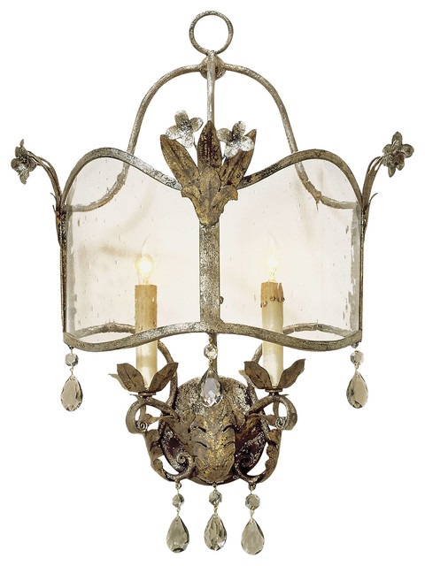 spanish revival antique gold silver decorative wall sconce lighting