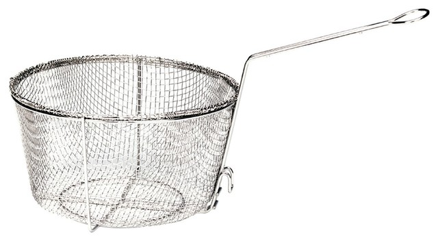Bayou Classic Nickel Plated Fry Basket, 11x5.5.