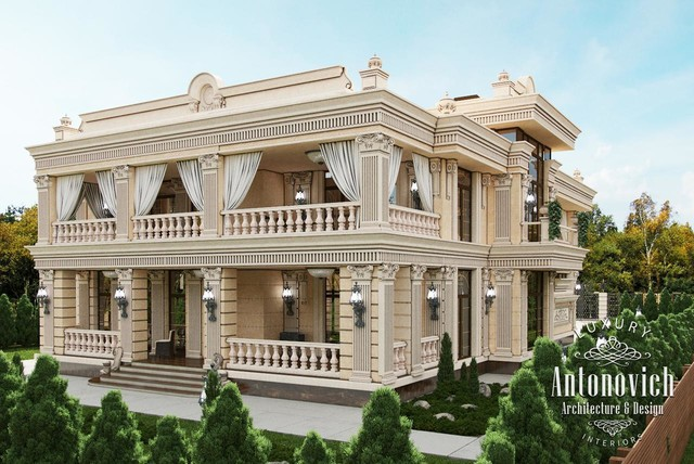 10 villa palace exterior designs other by luxury for Classic villa exterior design