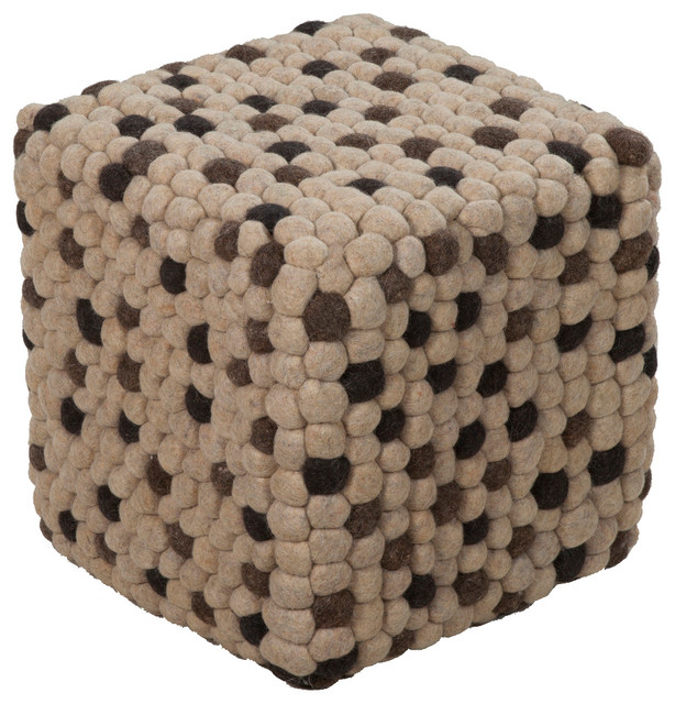 Awesome Surya Poufs Pouf Ottoman Neutral Square 18 Gmtry Best Dining Table And Chair Ideas Images Gmtryco