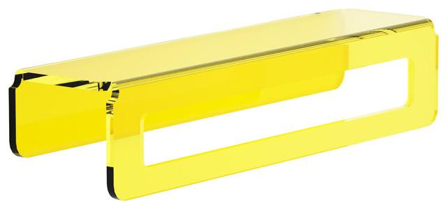 Folio Translucent Towel Rail and Shelf, Yellow