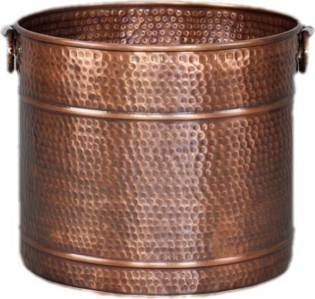 Large Copper Planter Hammered 17 5 Traditional Indoor Pots