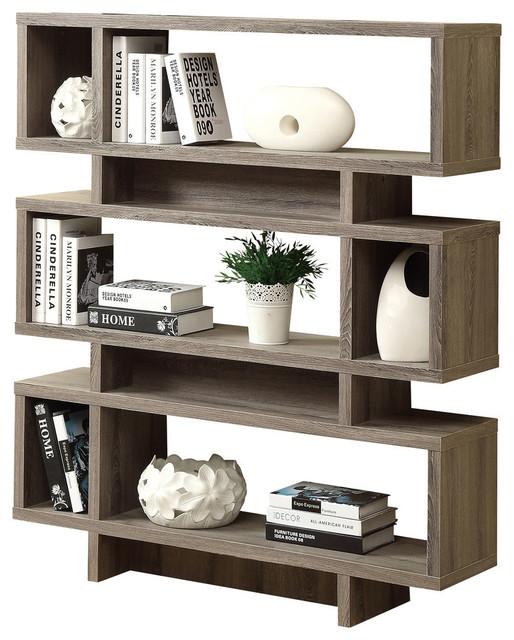 Modern Style Bookcase Dark Taupe