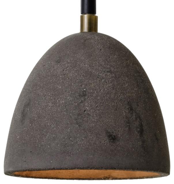 flynn industrial loft concrete dome rustic pendant lighting