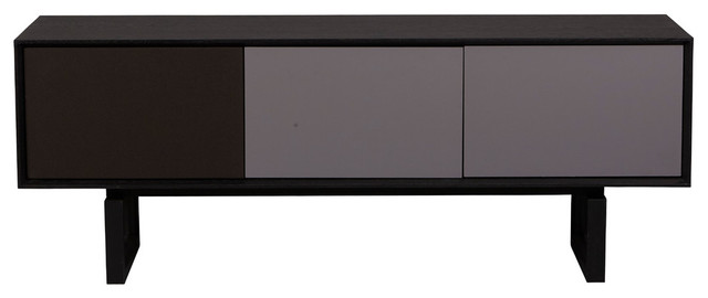 Burano Collection Black Oak Media Cabinet.
