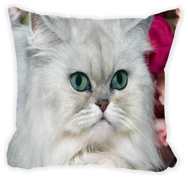 Fluffy White Cat Double Sided 16 Quot Decor Pillow