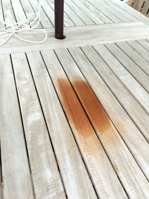 How Do I Get Citronella Candle Wax Off My Teak Table!!