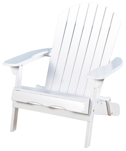 White Folding Wood Adirondack Chair Beach Style Adirondack Chairs