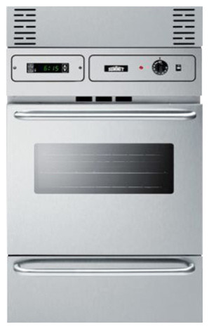 Stainless Steel 220v Electric Wall Oven With Digital Clock