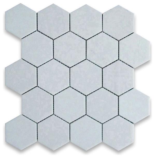12 25 X11 75 Thos White Hexagon Mosaic Tile Honed Chip Size 3