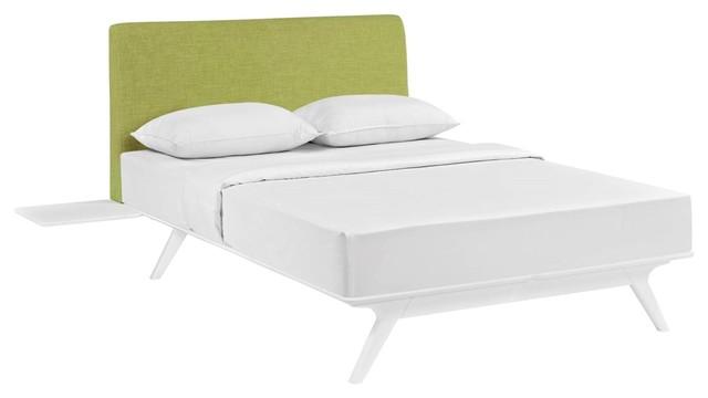 Modern Contemporary 3 Piece Queen Size Bedroom Bed Set Beige