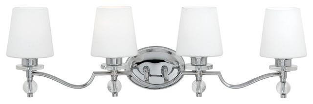 Avalon Polished Chrome Bathroom Vanity Ceiling Lights: Quoizel Hollister Bath Light HS8604C