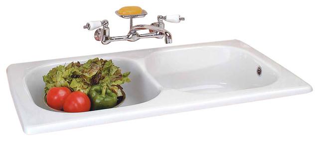 kitchen dropin counter sink italian porcelain double basin - Porcelain Kitchen Sink
