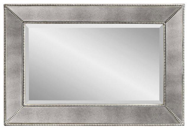 Shop Houzz Bassett Mirror Co Beaded Antique Silver