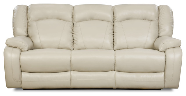 Simmons Upholstery Yahtzee Pearl Power Double Motion Sofa.