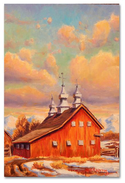 Wanda Mumm Benton Barn Canvas Art Farmhouse Prints