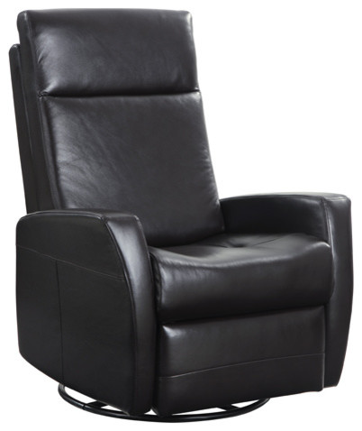 Garrett Leather Swivel Gliding Recliner Black Leather contemporary-recliner -chairs  sc 1 st  Houzz : leather swivel glider recliner - islam-shia.org