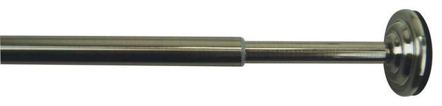 Versailles 1/2 Diameter Mini Tension Rod 24/36 Brushed Nickel.
