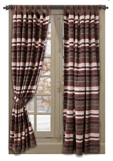 Carstens Inc Old West Stripe Tab Drape Set View In Your Room Houzz