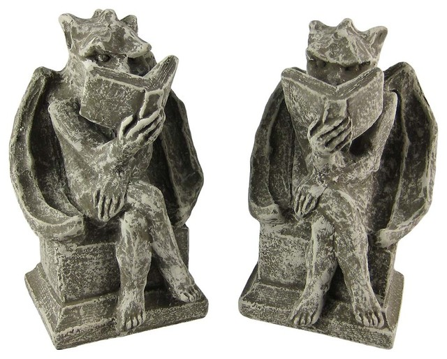Shop Houzz Zeckos Cool Bookworm Gargoyle Book Ends