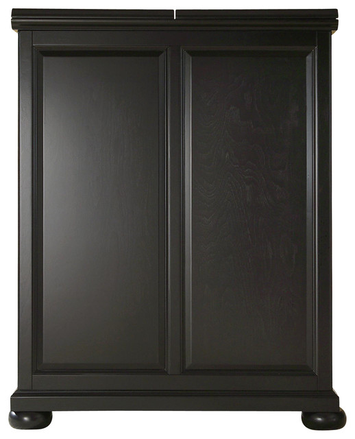 Alexandria Expandable Bar Cabinet In Black Finish Traditional Wine And Bar  Cabinets