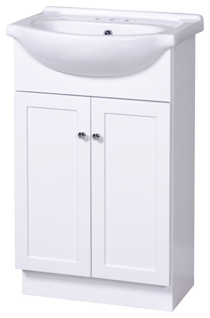"columbia 22"" white euro bathroom vanity with vitreous china top 22 Bathroom Vanity"