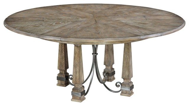 Hacienda Jupe Dining Table Heather Grey Finish