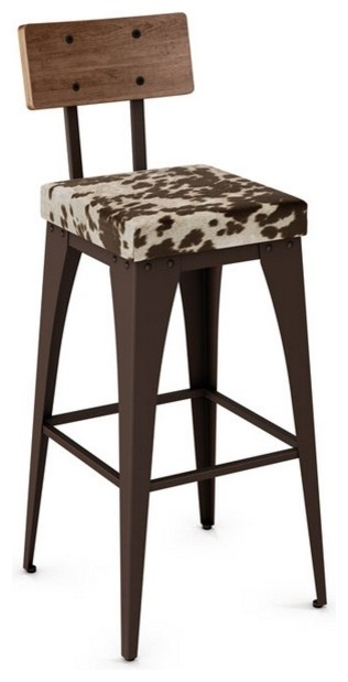 Non Swivel Stool With Upholstered Seat Farmhouse Bar