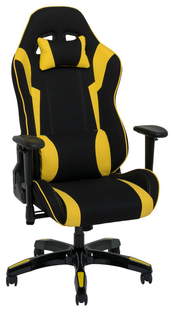 Magnificent Corliving Black And Yellow High Back Ergonomic Gaming Chair Ibusinesslaw Wood Chair Design Ideas Ibusinesslaworg