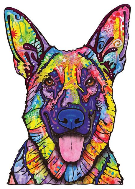 Dogs Never Lie German Shepherd Wall Sticker Decal Pop Out