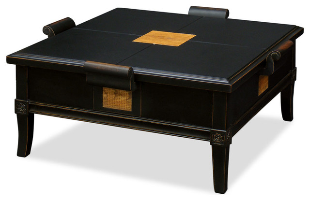 China Furniture And Arts Elmwood Zhou Yi Square Coffee Table Coffee Tables Houzz