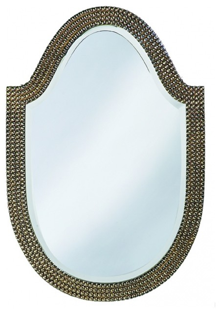 Lancelot Oval Mother Of Pearl With Silver Leaf Mirror