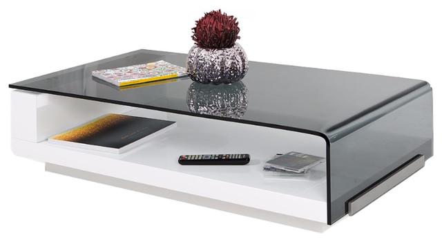 Modrest Tide Modern Glass Coffee Table.
