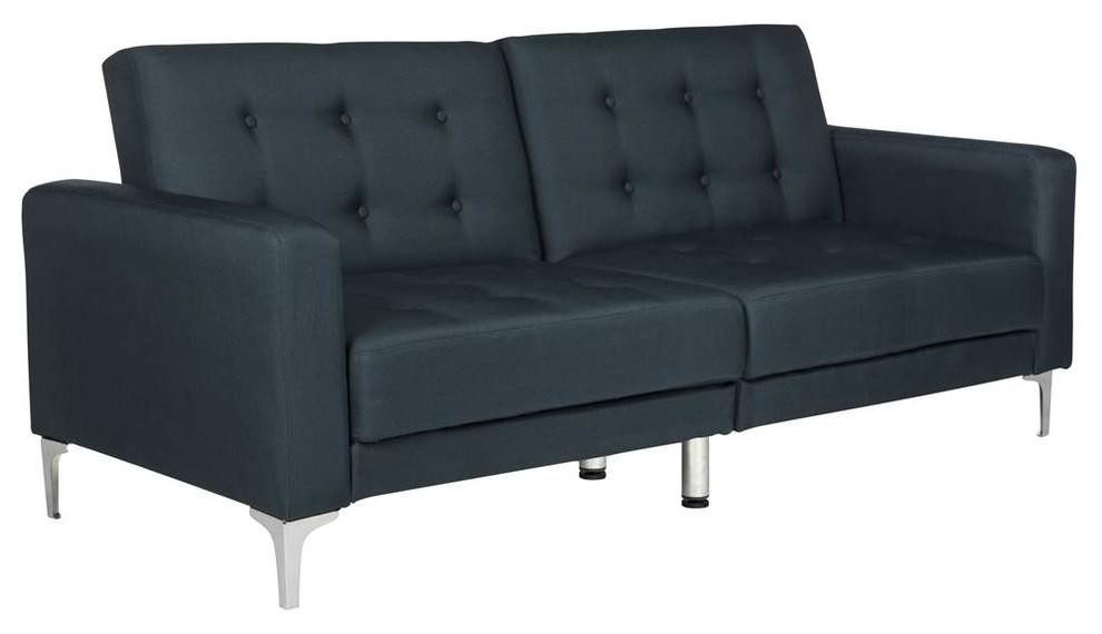 Soho Tufted Foldable Sofa Bed In Navy