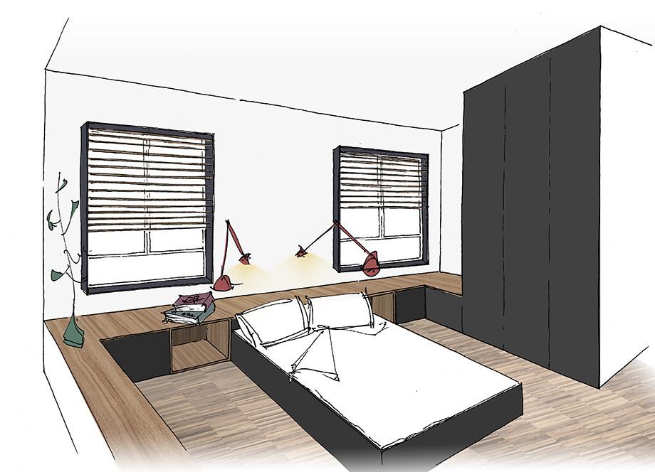 Boceto previo habitación principal