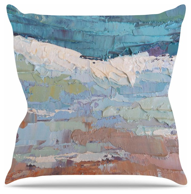 Carol Schiff Quot Surf Dreams Quot Blue Teal Throw Pillow