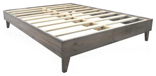 North American Pine Artisan Bed Frame, Gray Barn Wood, Twin