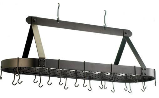 Steel Hanging Pot Storage Rack Jumbo Oval Pot Racks And