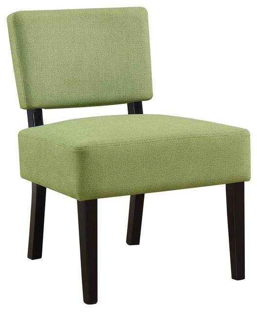 Accent Chair in Lime Green Fabric