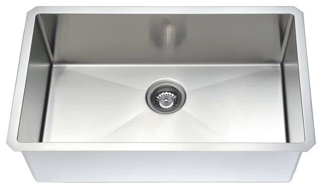 Anzzi Vanguard Undermount Stainless Steel Kitchen Sink W/sails Faucet.