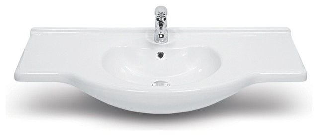 "42"" Ceramic Bathroom Sink."