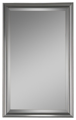 satin nickel bathroom mirror studio v satin nickel frame 14 quot x 34 quot beveled mirror 20309