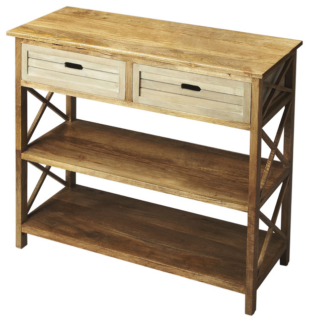 Butler Console Table, Multi-Color.