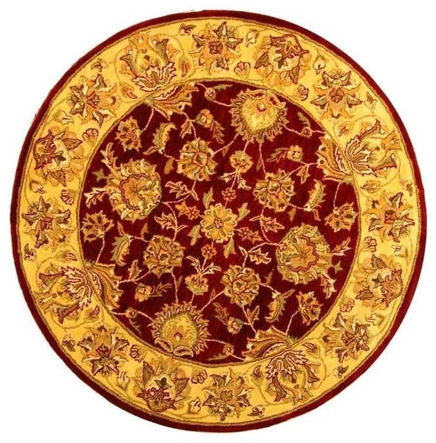 Anna Hand Tufted Rug Red Gold 9 6 Quot X13 6 Quot Traditional