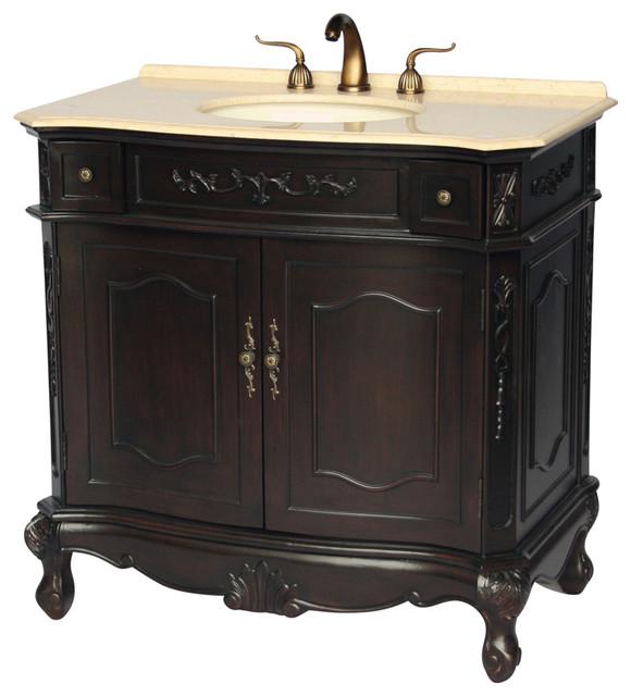 """36"""" Antique-Style Single Sink Bathroom Vanity Model 1905-36es Be."""